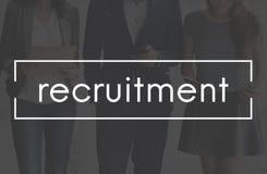 Rekrutering Job Position Employment Manpower Concept Royalty-vrije Stock Foto's