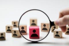 Rekruteringsconcept die naar werknemer zoeken royalty-vrije stock afbeeldingen