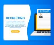 Rekruteringsconcept Huurarbeiders, het onderzoeksteam van keuswerkgevers voor baan Vector illustratie vector illustratie