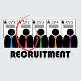Rekrutierung eines Angestellten lizenzfreie stockfotos