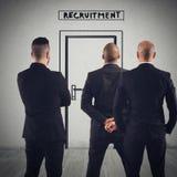 Rekrytering för en arbetsplats Arkivfoto