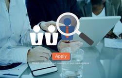 Rekrytering som hyr anställning Job Seekers Concept Arkivbild