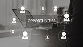 Rekrytering som hyr begrepp för karriärjobbanställning arkivbild