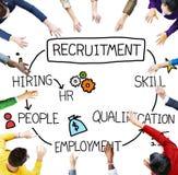 Rekrytering som hyr expertiskvalifikationen Job Concept Arkivbild