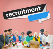 Rekrytering som hyr karriärpersonalresursbegrepp fotografering för bildbyråer