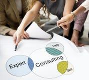 Rekrytering som konsulterar Venn Diagram Concept Arkivbild
