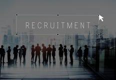Rekryteringanställd som hyr ockupationtalangbegrepp arkivfoto
