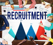 Rekryteringanställning som hyr Job Career Concept Arkivfoto