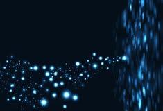 Rektangel data futuristisk 3d för digital teknologi för fyrkanter glödande stock illustrationer