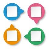 Rektangel för cirkel för fyra informationsetiketter stock illustrationer