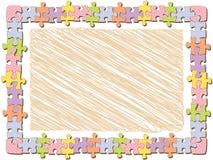 rektangel för prickramjigsaw stock illustrationer