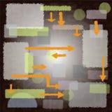 Rektanglar, former och pilar Royaltyfri Foto