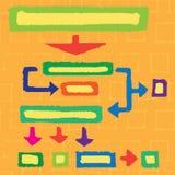 Rektanglar, former och pilar Arkivfoton
