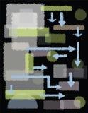 Rektanglar, former och pilar Royaltyfri Fotografi