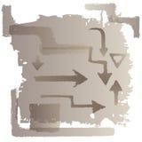 Rektanglar, former och pilar Arkivfoto