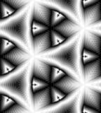 Rektanglar som skimrar försiktigt från ljus till mörka signaler och minskar in mot mitten, skapar illusionen av djup och volym Royaltyfri Fotografi