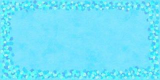 Rektangul?r dekorativ ram av bl?tt- och turkosrundabest?ndsdelar royaltyfri illustrationer