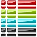rektangulär knappfärgplast- Arkivbild