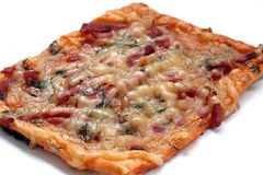 rektangulär pizza Arkivfoton