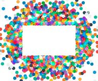 Rektangulär ram av kulöra konfettier Royaltyfri Foto