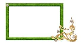 Rektangulär ram för den blom- prydnaden för foto för kreativitet Royaltyfri Foto