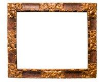 Rektangulär ram för en spegel på isolerad bakgrund royaltyfria foton