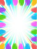 Rektangulär vertikal ram för påsk Påskägg med prickar Arkivfoton