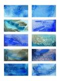 Rektangulära bakgrunder för baner med en vattenfärgtextur Royaltyfri Bild