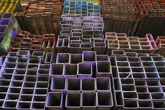 Rektangulärt metallrør Fotografering för Bildbyråer