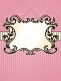 rektangulär tappning för elegant fransk etikett Royaltyfri Fotografi