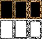 Rektangulära ramar Arkivbild