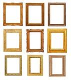 Rektangulära ramar för tappning Arkivbild