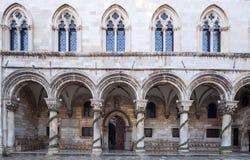 Rektora pałac dubrovnik Chorwacja obraz royalty free