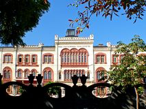 Rektorat Builging Belgrade uniwersytet fotografia royalty free