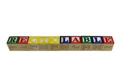 Rekupereerbaar op stuk speelgoed blokken Royalty-vrije Stock Afbeelding