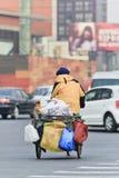 Rekupereerbare afvalcollector in Peking Royalty-vrije Stock Foto