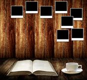 Relájese con café y buenas memorias Fotografía de archivo