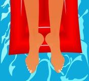 Relájese en aire-cama Imagen de archivo libre de regalías