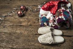 Relájese en el fondo de los días de fiesta de la Navidad Fotografía de archivo