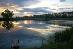 Relájese en el lago Foto de archivo