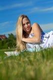 Relájese en el sol Imágenes de archivo libres de regalías