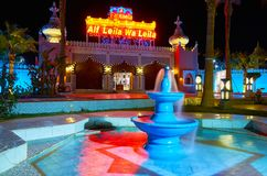 Relájese en la fuente, Sharm el Sheikh, Egipto Imagenes de archivo