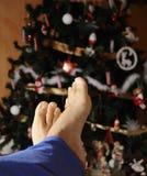 Relájese en la Navidad Imagen de archivo libre de regalías