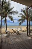 Relájese en la playa Fotografía de archivo