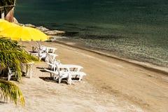 Relájese en la playa Foto de archivo libre de regalías