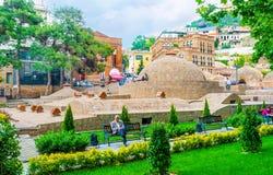 Relájese en la vecindad de Abanotubani de Tbilisi Imagen de archivo