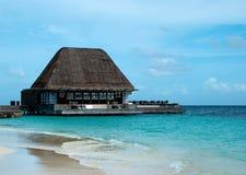 Relájese en maldives fotos de archivo