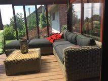 Relájese en terraza Imagen de archivo