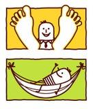 Relájese y cuelgue de una hamaca libre illustration