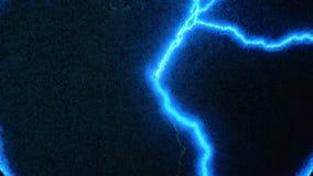 Relámpago azul abstracto Transmisión de la energía eléctrica a través del aire, transmisión de la electricidad inalámbrica